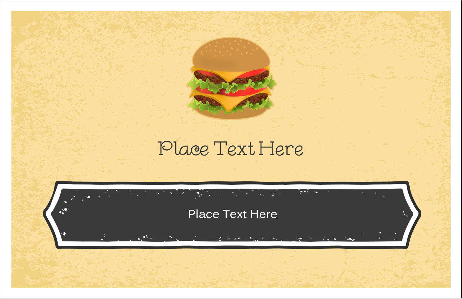 "5½"" x 8½"" Greeting Card - Burger"