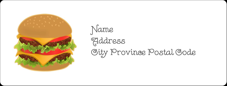"1"" x 2⅝"" Address Label - Burger"