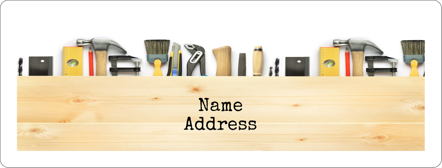 "1"" x 2⅝"" Address Label - Carpentry"