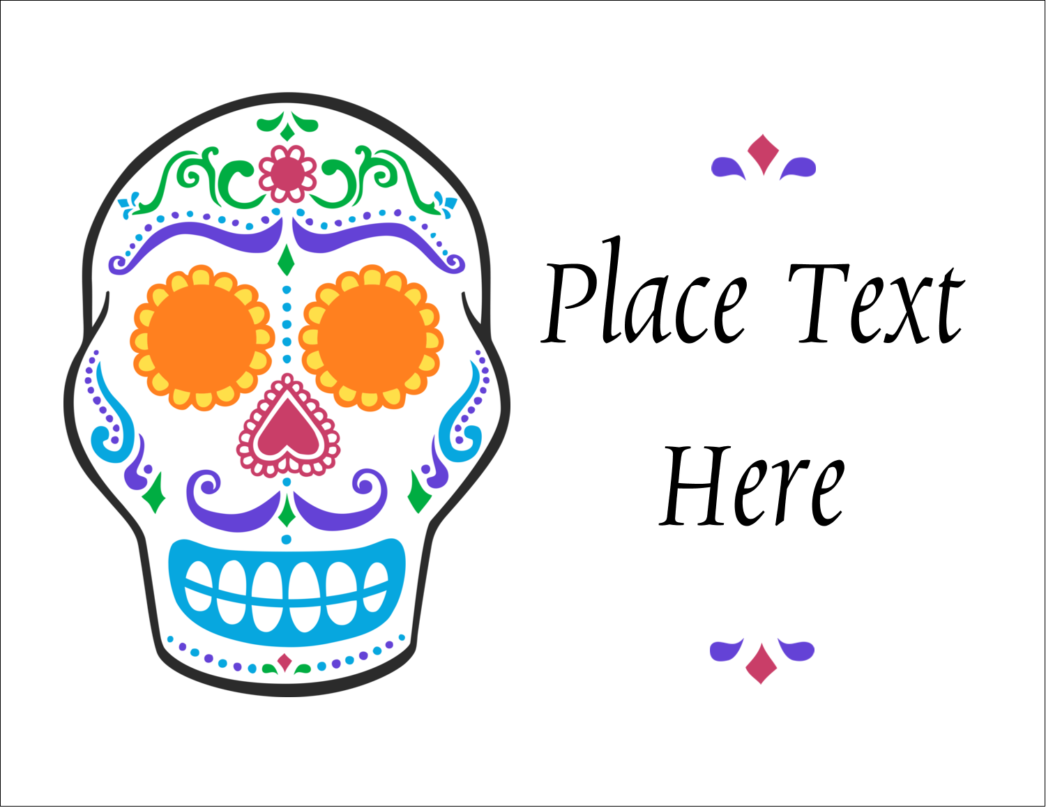 "5½"" x 4¼"" Note Card - Day of the Dead Skull"