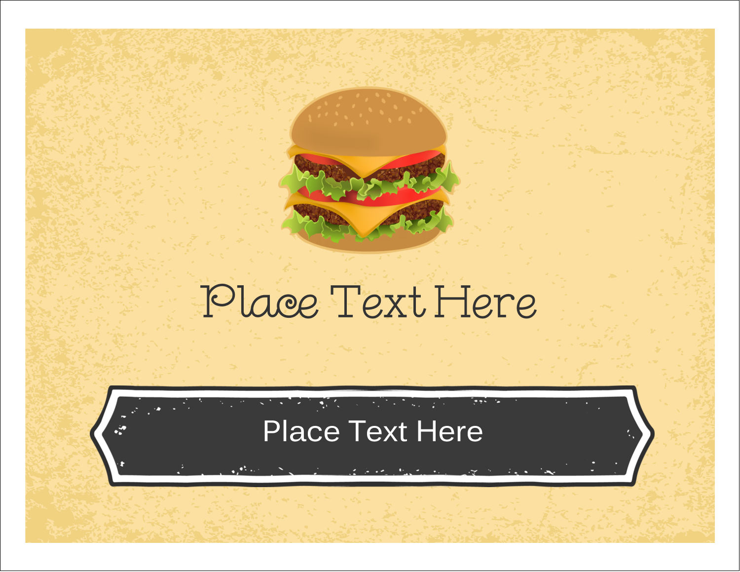 "5½"" x 4¼"" Note Card - Burger"