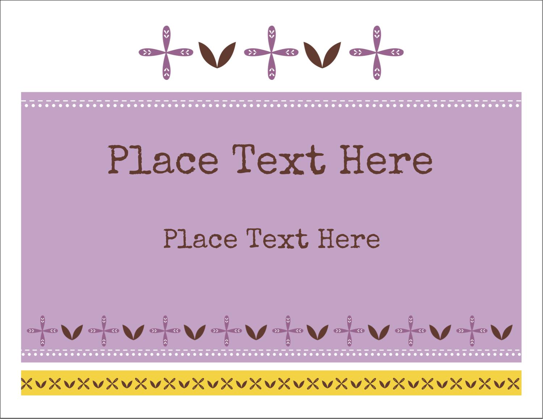 "5½"" x 4¼"" Note Card - Geometric Lavender Blossoms"