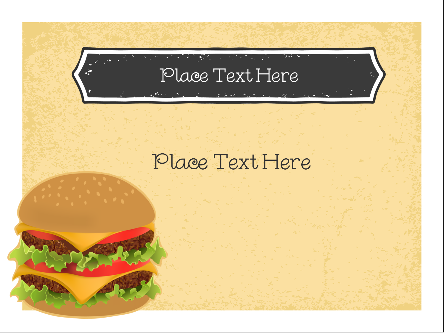 "3"" x 4"" Name Tags - Burger"