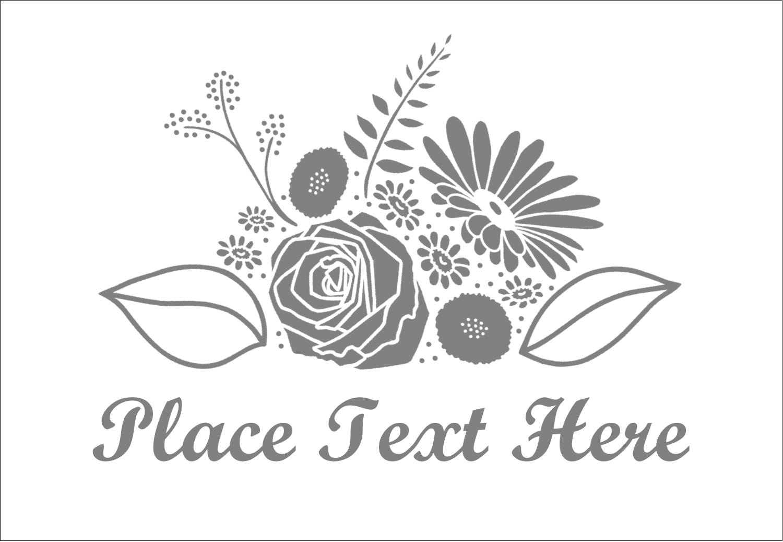 "3⅜"" x 2⅓"" Name Badge - Floral Bouquet"