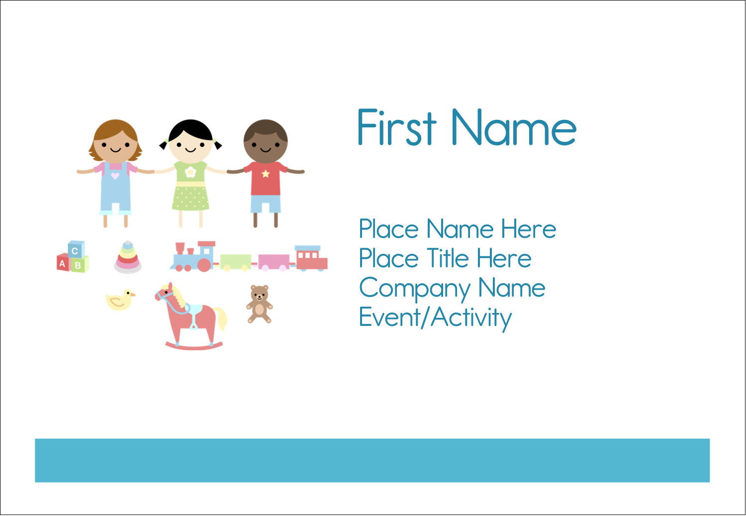 "3⅜"" x 2⅓"" Name Badge - Babysitting Education"