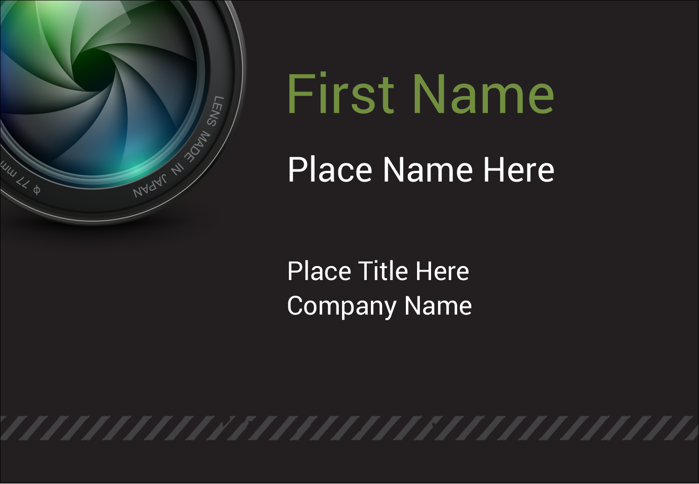 "3⅜"" x 2⅓"" Name Badge - Camera Lens"