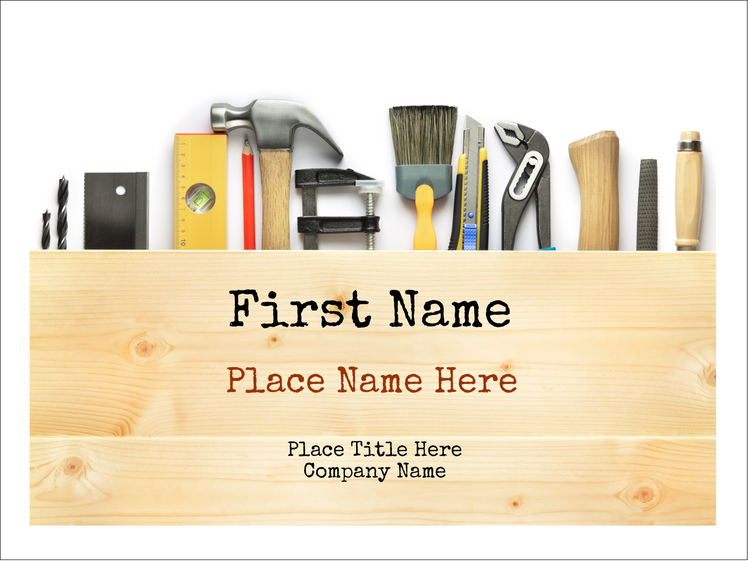 "3"" x 4"" Name Tags - Carpentry"