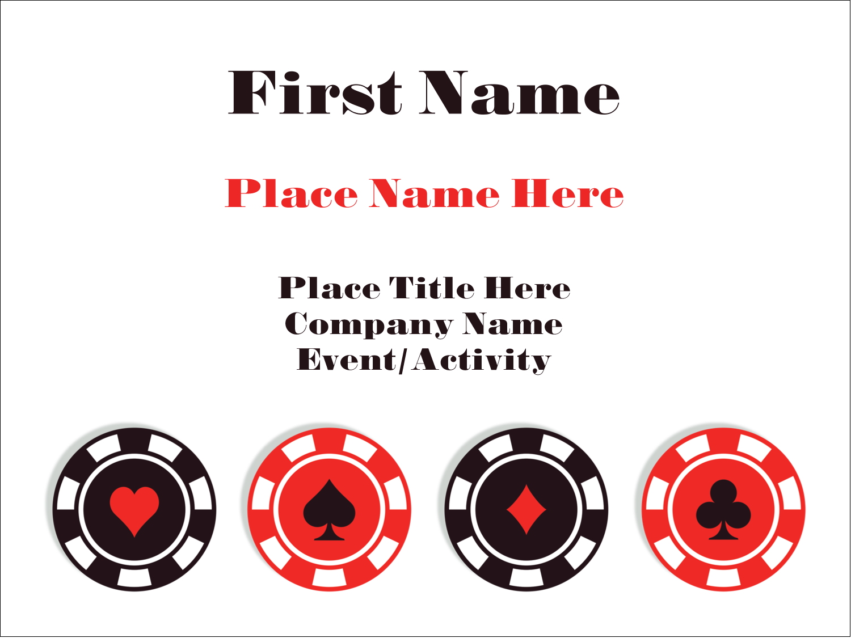 "3"" x 4"" Name Tags - Poker Game"
