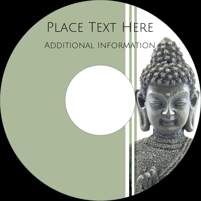 "4.65"" CD-DVD Label - Buddha"