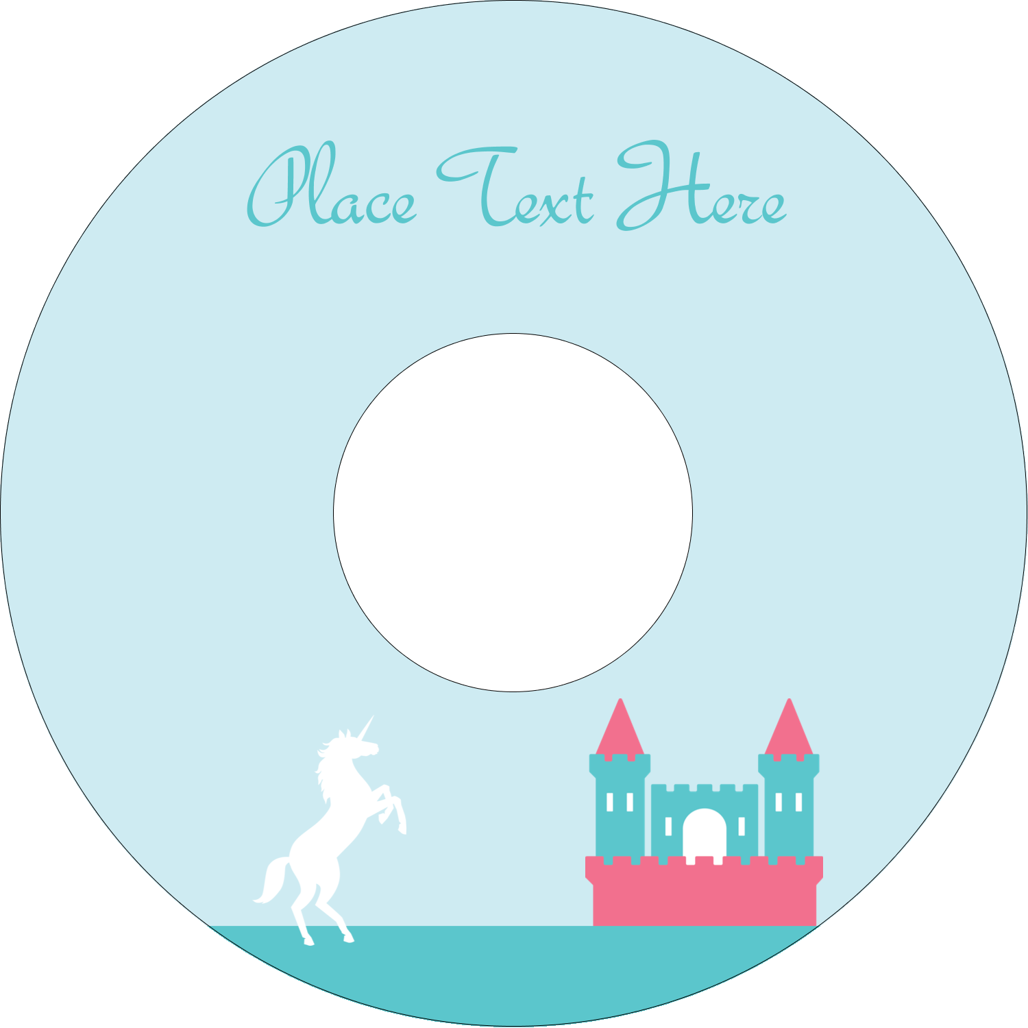"4.65"" CD-DVD Label - Castle"