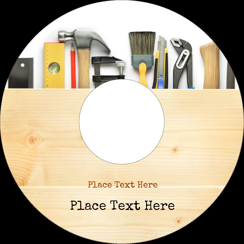 "4.65"" CD-DVD Label - Carpentry"