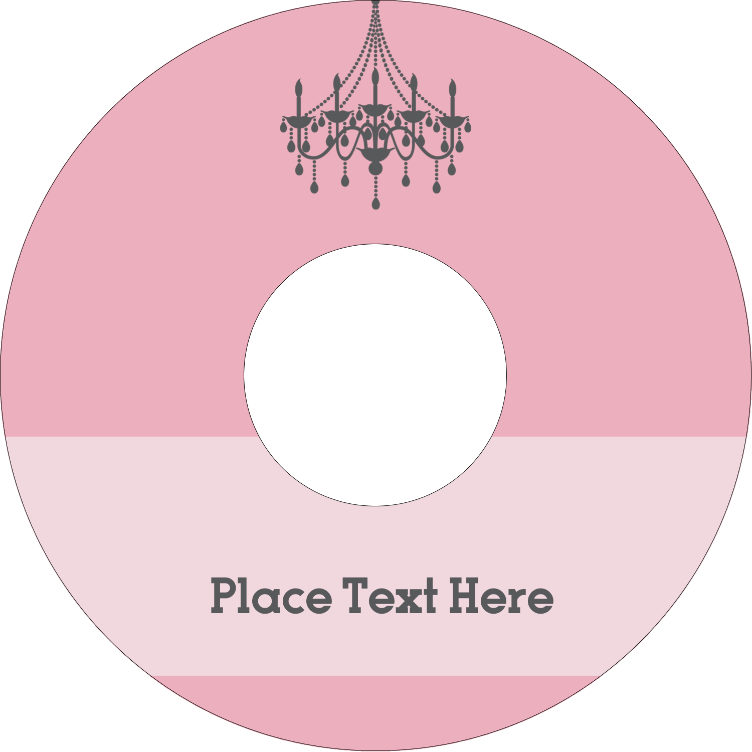 "4.65"" CD-DVD Label - Chandelier"