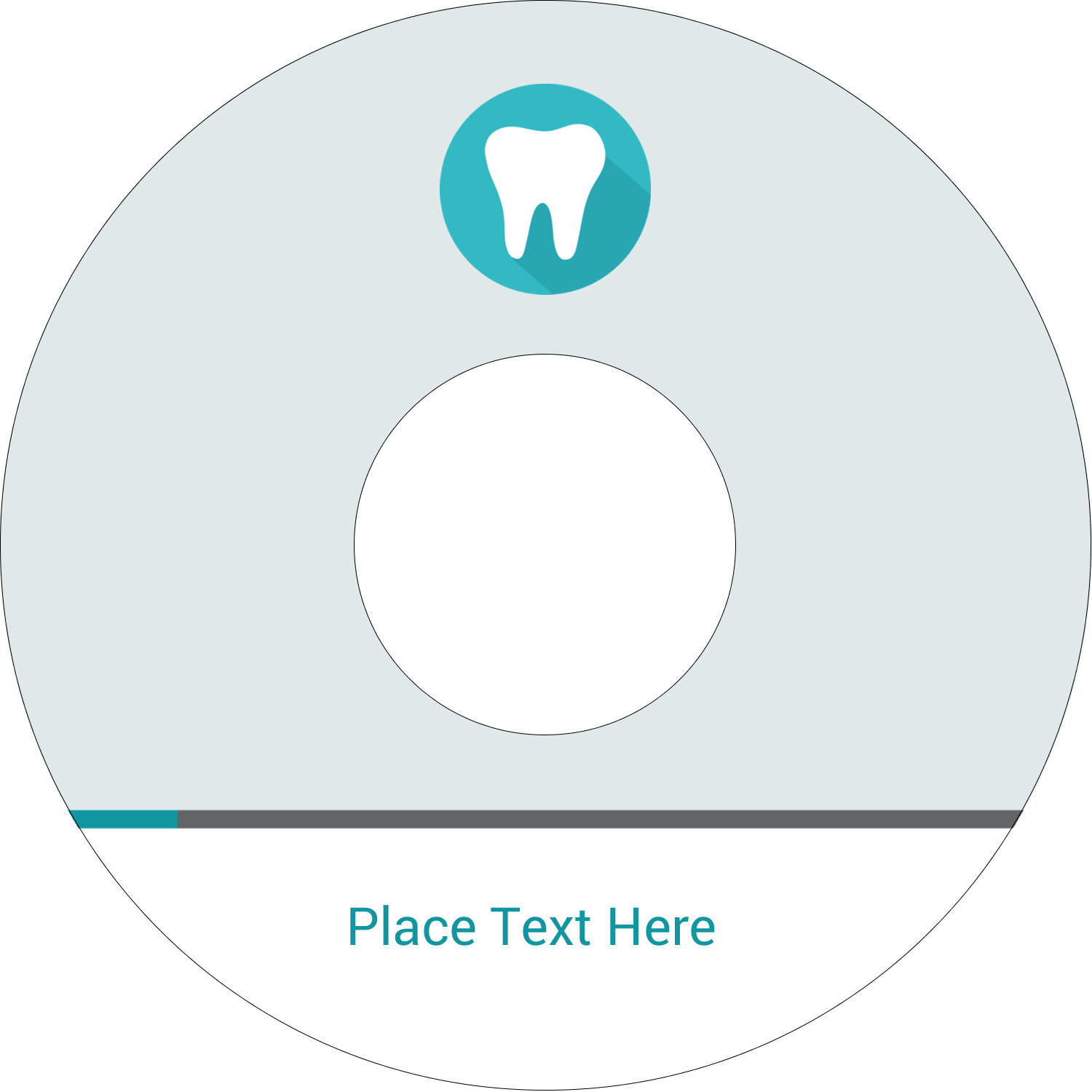"4.65"" CD-DVD Label - Dentist Tooth"