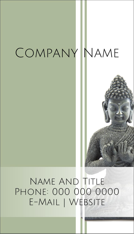 "2"" x 3½"" Business Card - Buddha"