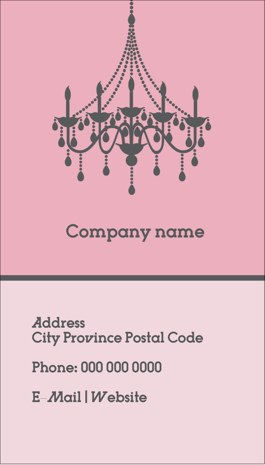 "2"" x 3½"" Business Card - Chandelier"