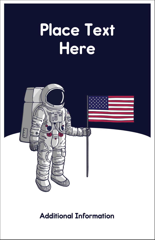 "5"" x 8½"" Half Fold Card - Astronaut"