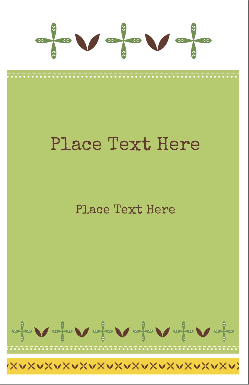 """5"""" x 8½"""" Half Fold Card - Geometric Green Blossoms"""