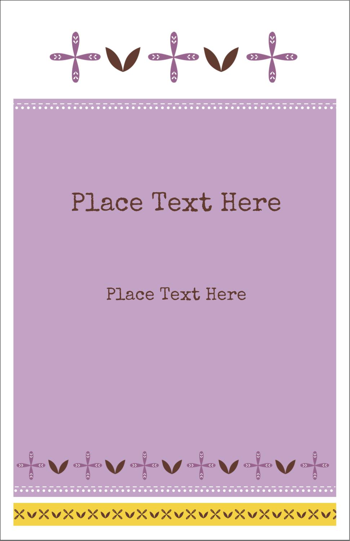 "5"" x 8½"" Half Fold Card - Geometric Lavender Blossoms"