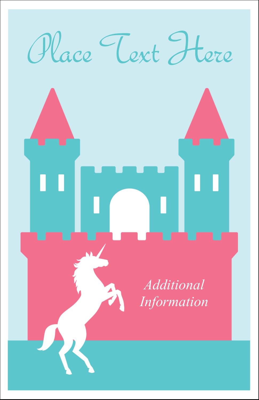 "5"" x 8½"" Half Fold Card - Castle"
