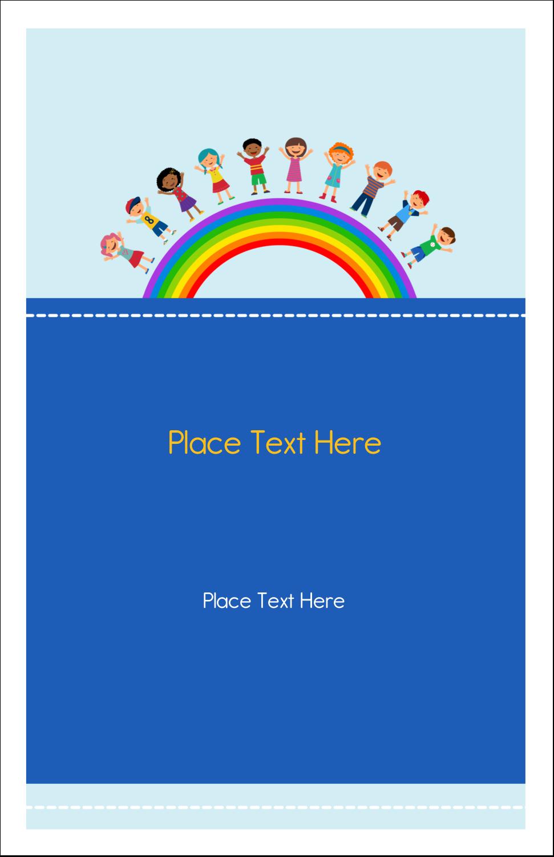 "5"" x 8½"" Half Fold Card - Childcare Education"
