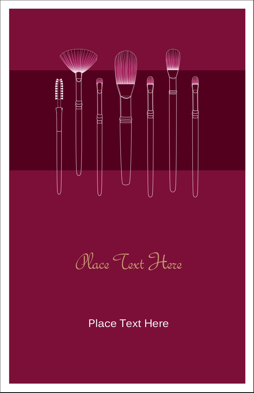 "5"" x 8½"" Half Fold Card - Cosmetic Brushes"