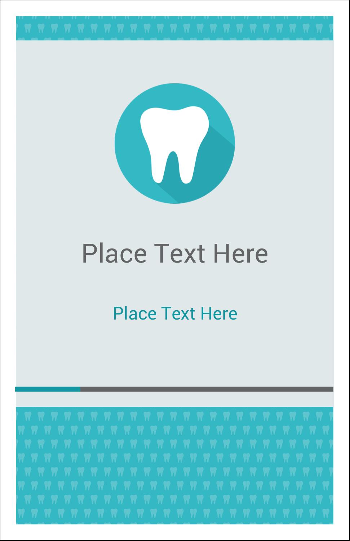 "5"" x 8½"" Half Fold Card - Dentist Tooth"