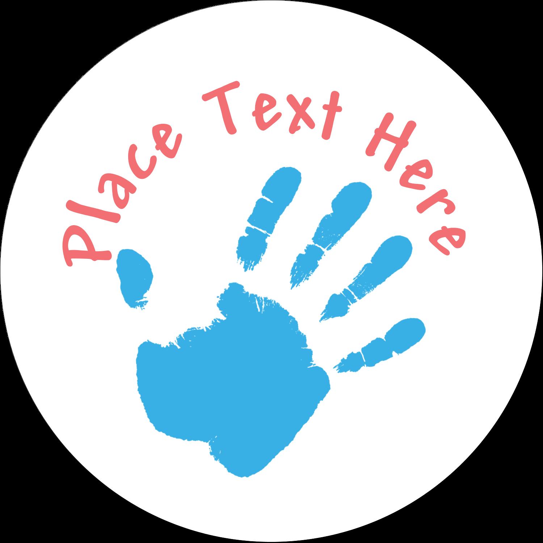"1½"" Round Label - Childcare Hands"