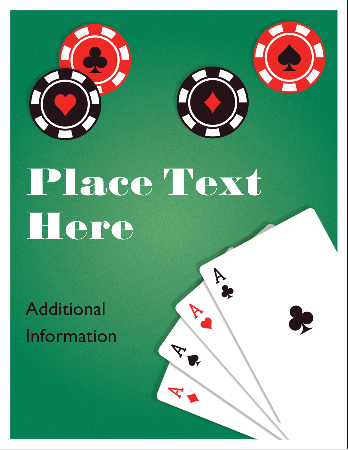 "5½"" x 8½"" Greeting Card - Poker Game"