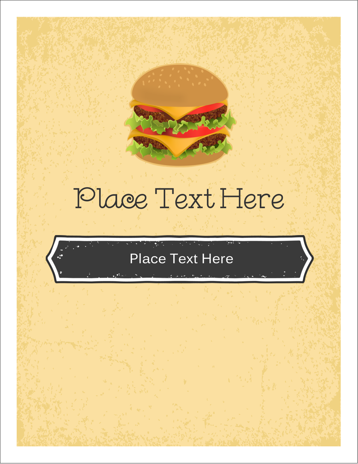 "4¼"" x 5½"" Note Card - Burger"