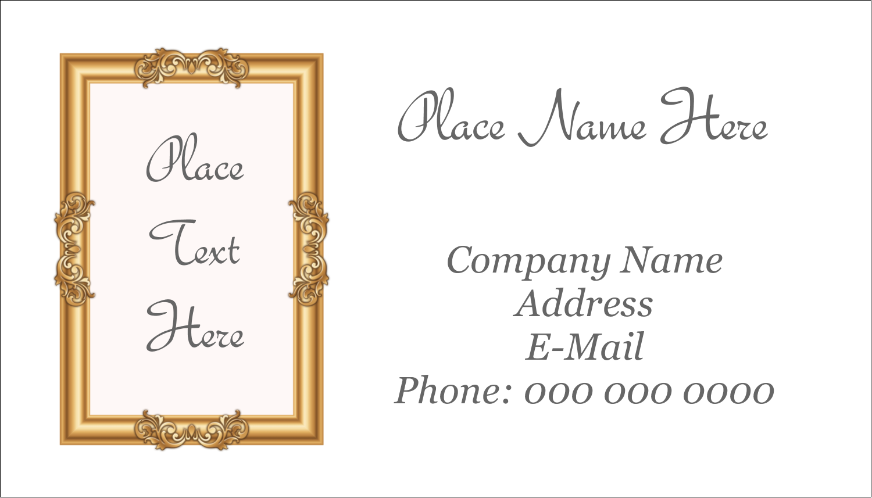 """2"""" x 3½"""" Business Card - Art Gallery"""