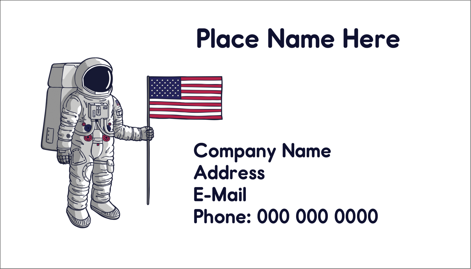 "2"" x 3½"" Business Card - Astronaut"