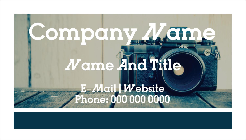 "2"" x 3½"" Business Card - Camera"