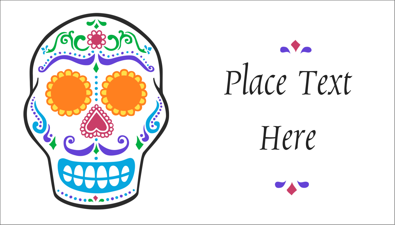 "2"" x 3½"" Business Card - Day of the Dead Skull"