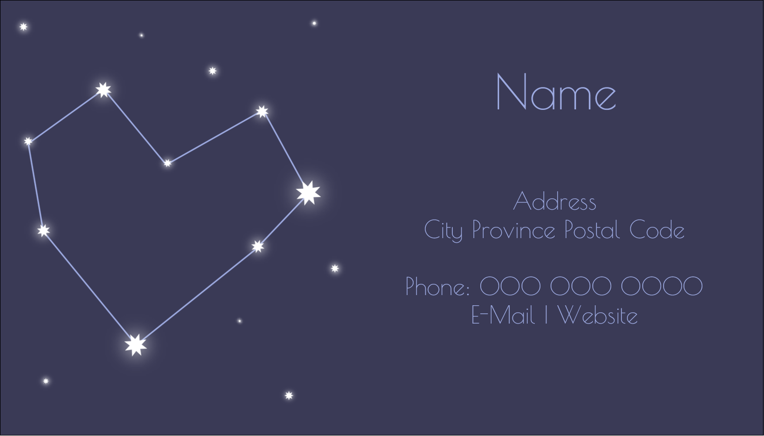 "2"" x 3½"" Business Card - Anniversary Stars"