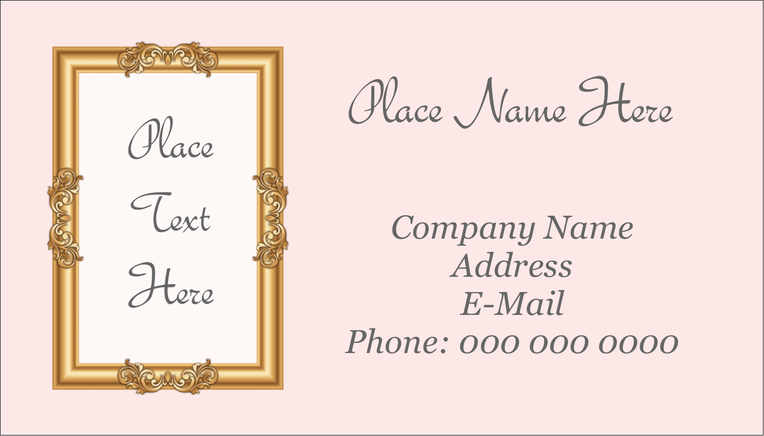 "2"" x 3½"" Business Card - Art Gallery"