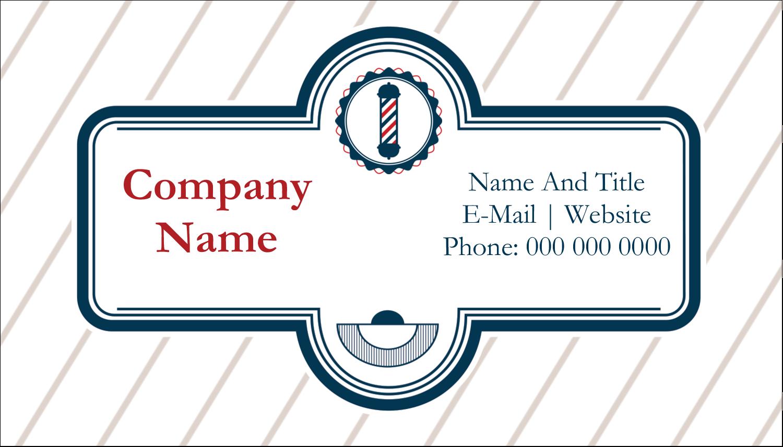 "2"" x 3½"" Business Card - Barber Pole"