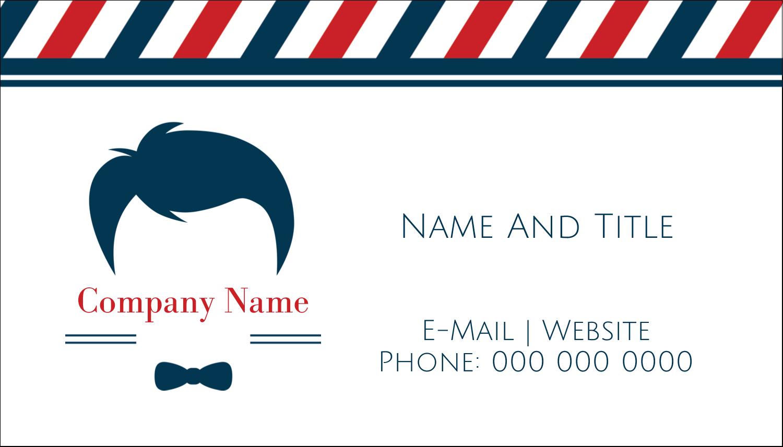 "2"" x 3½"" Business Card - Barber Shop"