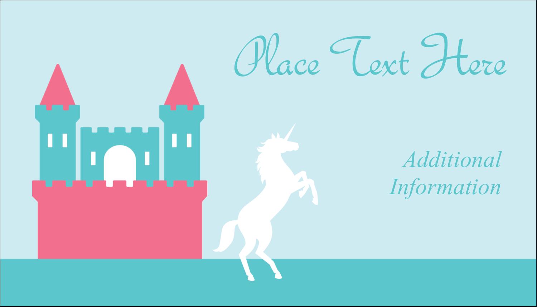 """2"""" x 3½"""" Business Card - Castle"""