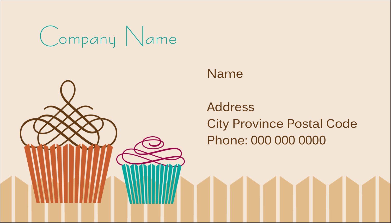 "2"" x 3½"" Business Card - Cupcake"