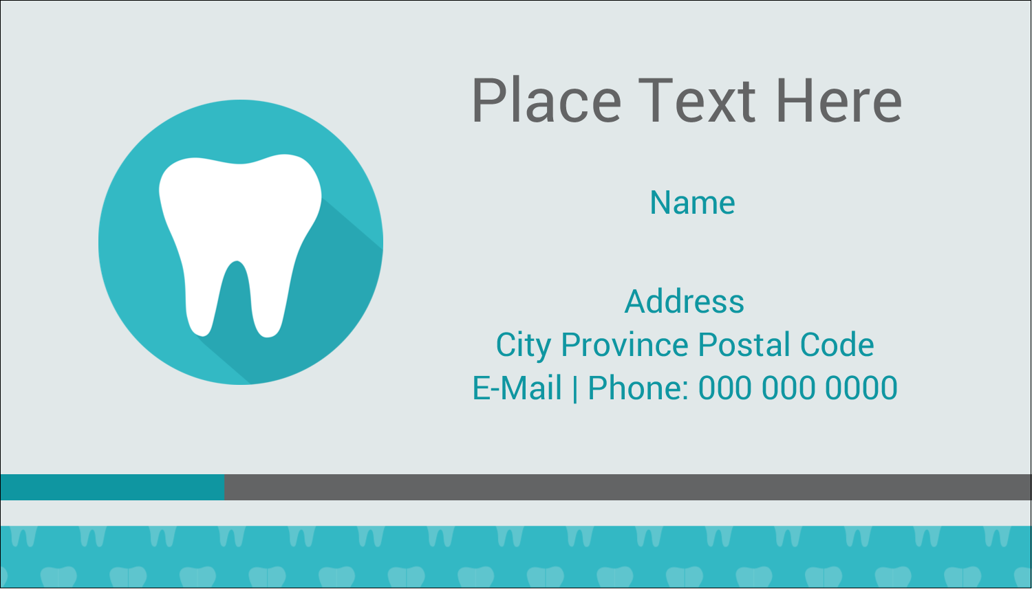 "2"" x 3½"" Business Card - Dentist Tooth"