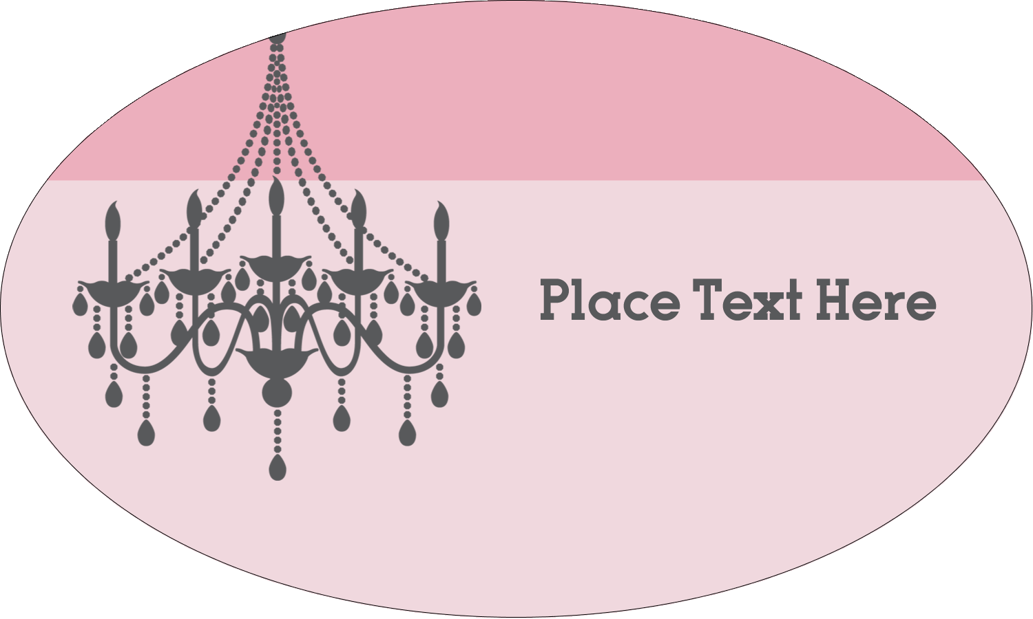 "1½"" x 2½"" Oval Glossy Label - Chandelier"