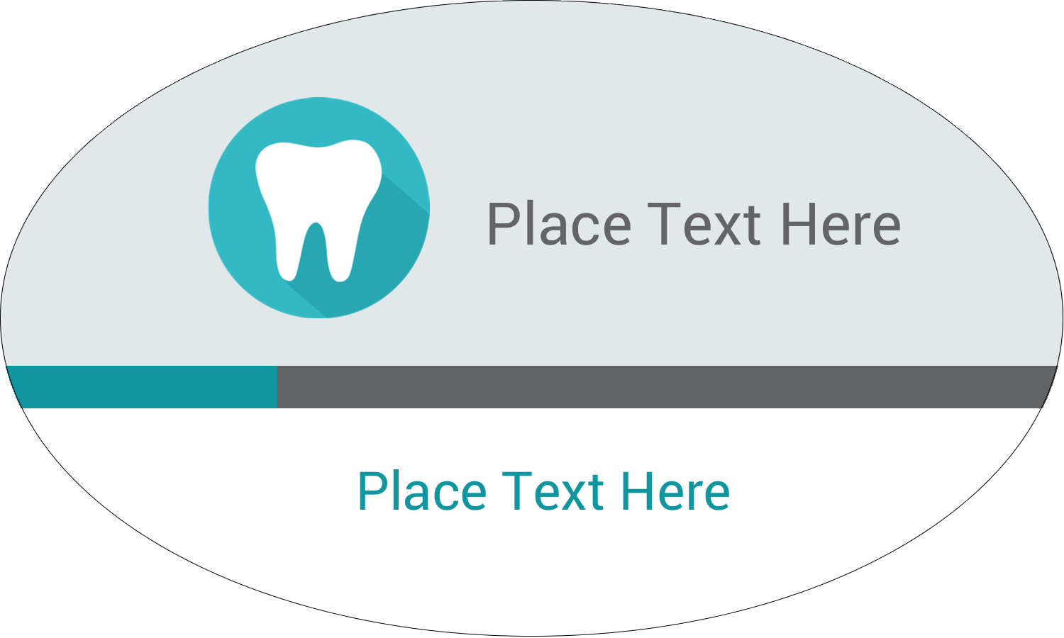 """1½"""" x 2½"""" Oval Glossy Label - Dentist Tooth"""