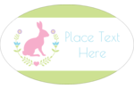 Give Easter projects a fun creative twist with a pink bunny and a decorative wreath.