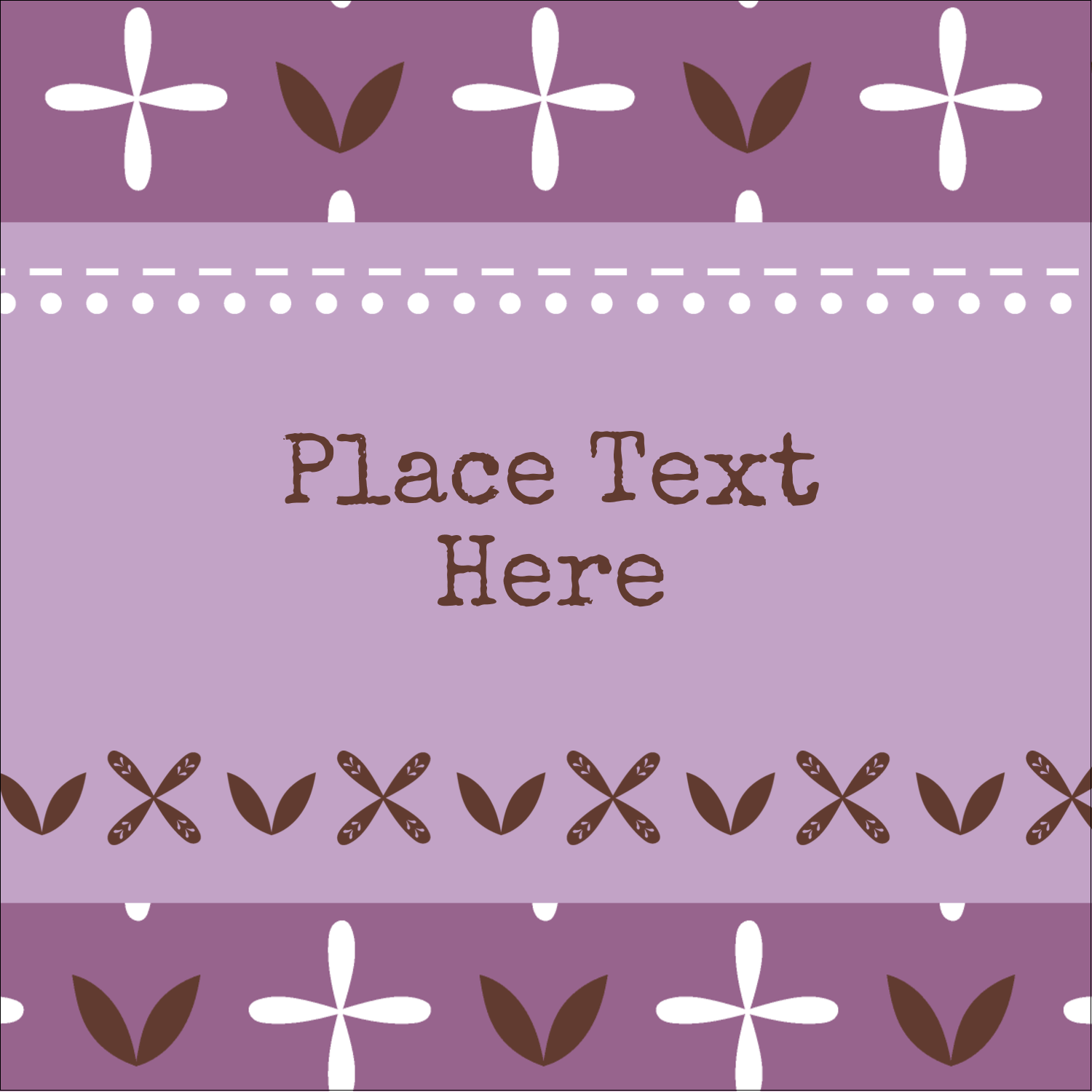 "1½"" x 1½"" Square Label - Geometric Lavender Blossoms"