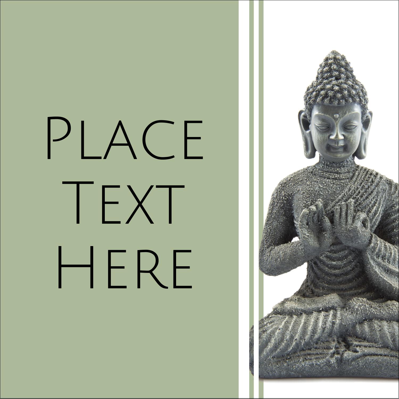"1½"" x 1½"" Square Label - Buddha"