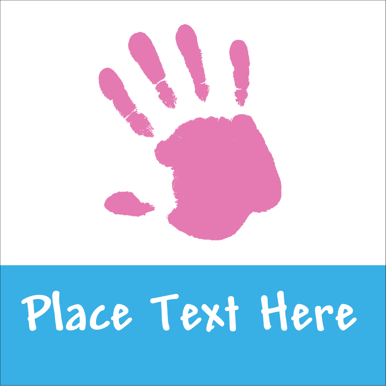"1½"" x 1½"" Square Label - Childcare Hands"