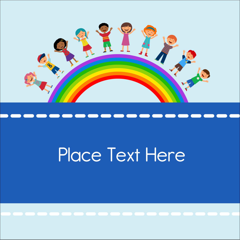 "1½"" x 1½"" Square Label - Childcare Education"
