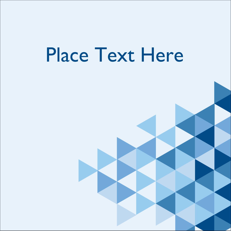 "2"" x 2"" Square Label - Blue Angles"