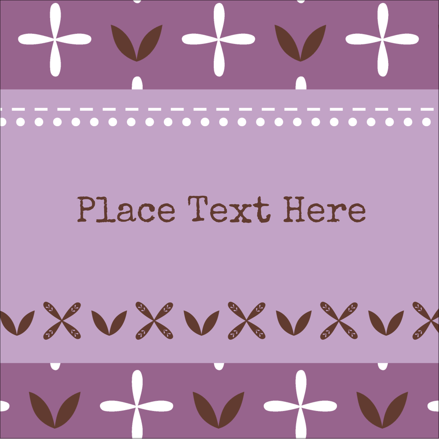 "2"" x 2"" Square Label - Geometric Lavender Blossoms"
