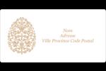 Œuf de Pâques de couleur bronze Étiquettes de classement écologiques - gabarit prédéfini. <br/>Utilisez notre logiciel Avery Design & Print Online pour personnaliser facilement la conception.